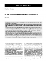 Peripheral neuropathy associated with fluoroquinolones