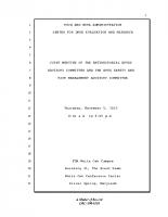 FDA Anti-Infective Drugs Advisory Committee UCM477657 Transcript 110515